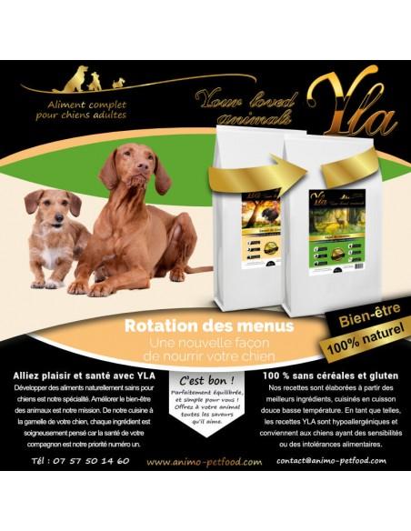 alimentation pour chien souffrant de troubles digestifs et probleme de peau