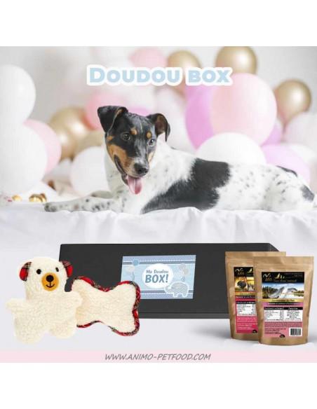 box-coffret-cadeau-chien-chiot-peluches-friandises-gourmandises