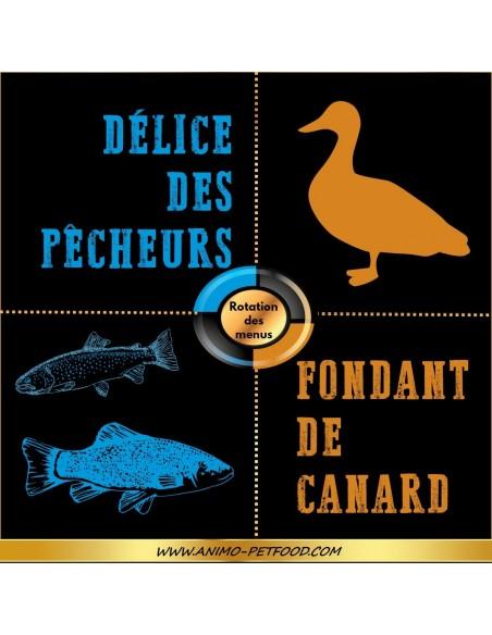 Croquettes sans céréale pour chien au saumon et truite (2x12kg)