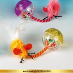 Souris Glamour Pom-Pom - Jouet peluche pour chat