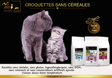 croquettes sans cereales pour chats