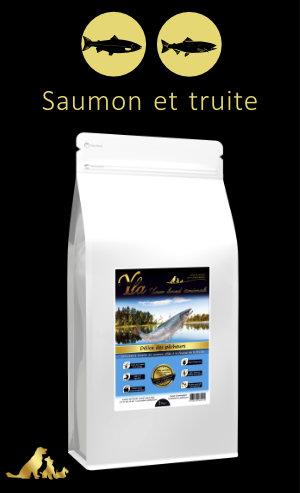 croquettes-saumon-truite-sans-cereales-chien-sensible