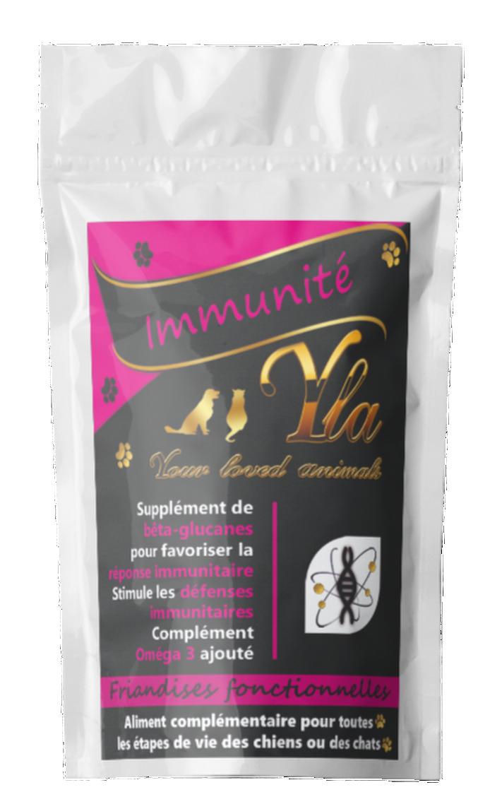 FRIANDISES FONCTIONNELLES IMMUNITE-chien-chat-Friandises naturelles spécifiques pour l'immunité